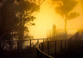 Misty Lookout Stock Images - 38090594