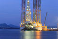 Jack Up Oil Drilling Rig In The Shipyard Royalty Free Stock Images - 38092999