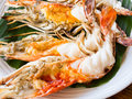 Grilled Fresh Big Shrimp Stock Photos - 38094663
