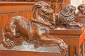 Bratislava - Dog Symbolic Carved Sculpture From Bench In Presbytery In St. Matins Cathedral Royalty Free Stock Photos - 38094858