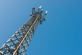 The Transmitter Mast Against Blue Sky Stock Images - 38099624