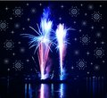 Fireworks  And Snowflakes Stock Image - 3812701