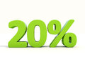 20 Percentage Rate Icon On A White Background Stock Photos - 38101573