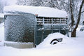 Winter Morning Snowbound Horse Trailer Royalty Free Stock Photography - 38103447