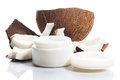 Coconut And Moisturizer Cream Royalty Free Stock Photography - 38105217