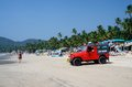 Life Guard Red Car At Beautiful Palolem Beach,Goa,India Stock Photography - 38116562