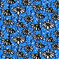 Vector Pattern With Hand Drawn Daisy Flowers Royalty Free Stock Images - 38137479