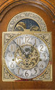 Grandfather Clock Face Wooden Case Moving Moon Dial Stock Photo - 38137870