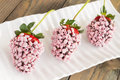 Pink Chocolate Strawberries Royalty Free Stock Images - 38141769