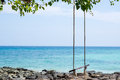 Rope Swing On The Beach Royalty Free Stock Photo - 38144855