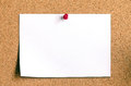 Blank Note Paper On Cork Board Stock Image - 38151511