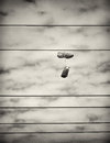 Sports Shoes Hanging From Power Lines Stock Images - 38151534