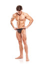 Strong Athletic Man Fitness Model Torso Showing Naked Muscular B Royalty Free Stock Image - 38153956