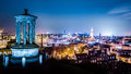 Edinburgh At Night View From Calton Hill Royalty Free Stock Images - 38154689
