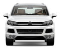 White SUV Stock Images - 38157214