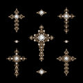 Set Of Jewelry Crosses Royalty Free Stock Images - 38157399