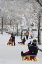 Kids On The Sledge Royalty Free Stock Photos - 38158118