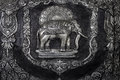 Elephant Sculpture On The Temple Wall Stock Photos - 38158873