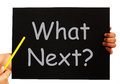 What Next Blackboard Means Following Steps Stock Photography - 38159032