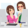 Graphic Designer And Assistant Stock Photos - 38165793