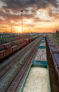 Cargo Trains In HDR Royalty Free Stock Images - 38166449