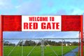 Welcome To Red Gate Sign Royalty Free Stock Image - 38166926