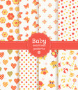 Baby Seamless Patterns In Pastel Colors. Vector Se Stock Photo - 38173630