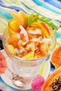 Fresh Fruits Salad With Papaya,banana,orange,pineapple And Cocon Royalty Free Stock Photography - 38176127