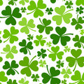 St. Patricks Day Seamless Background With Shamrock Royalty Free Stock Image - 38186986