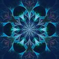 Beautiful Fractal Flower In Blue And Black. Computer Generated G Stock Image - 38189441