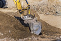 Excavator On Construction Site During Earthworks Stock Image - 38197351