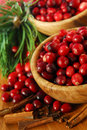 Cranberries In Bowls Stock Photos - 3822683