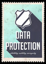 Data Protection Concept On Blue In Flat Design. Stock Images - 38209084