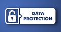 Data Protection On Blue In Flat Design Style. Royalty Free Stock Photo - 38209995