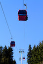 Cable Car Above Trees Royalty Free Stock Photos - 38211618