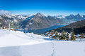 View To Grosser, Kleiner Mythen, Lake Luzern And Rigi From Klewenalp Ski Resort Stock Images - 38246424