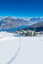 View To Grosser, Kleiner Mythen, Lake Luzern And Rigi From Klewenalp Ski Resort Stock Images - 38246714