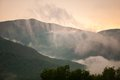 Sunset Behind The Green Mountains Of Vermont, USA Royalty Free Stock Photos - 38262458