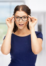 Lovely Woman In Spectacles Stock Image - 38280391
