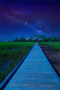 Path To Unknown Destination With Milky Way Stock Photos - 38283313