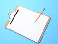Clip Board And Pencil Royalty Free Stock Photo - 38292645