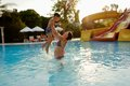 Mom And Son In The Pool Stock Photos - 38296443