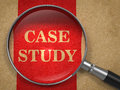 Case Study - Magnifying Glass Concept. Royalty Free Stock Photos - 38301288
