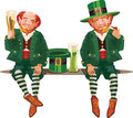 Leprechauns Drinking Beer Stock Images - 38305974
