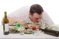 Man Drunk Like A Fish Yesterday Stock Photos - 38306183