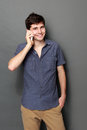 Young Man Calling By Phone Royalty Free Stock Photo - 38306685