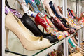 Rows Of Beautiful Women S Shoes On Store Shelves Stock Photography - 38308692