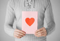 Man Holding Postcard With Heart Shape Royalty Free Stock Photo - 38318205