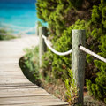 Wooden Path Leading To The Beach. Royalty Free Stock Photos - 38324348
