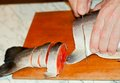 Cutting Of Fish Royalty Free Stock Photography - 38330907